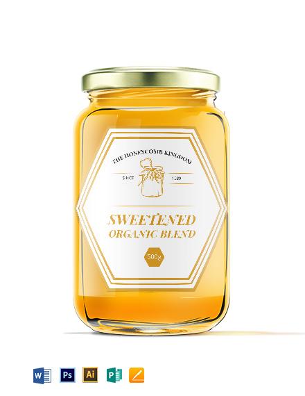 Honey Bottle Label Template