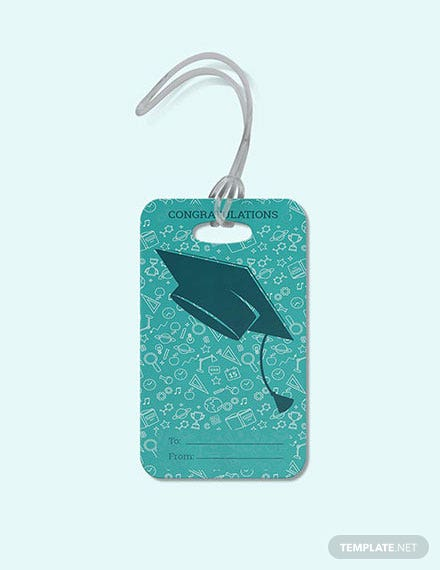Free Graduation Gift Tag Template