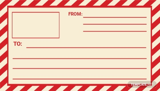 Mail Shipping Vintage Label Template.jpe