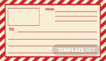 Mail Shipping Vintage Label Template
