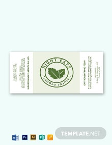 Organic Food Label Template
