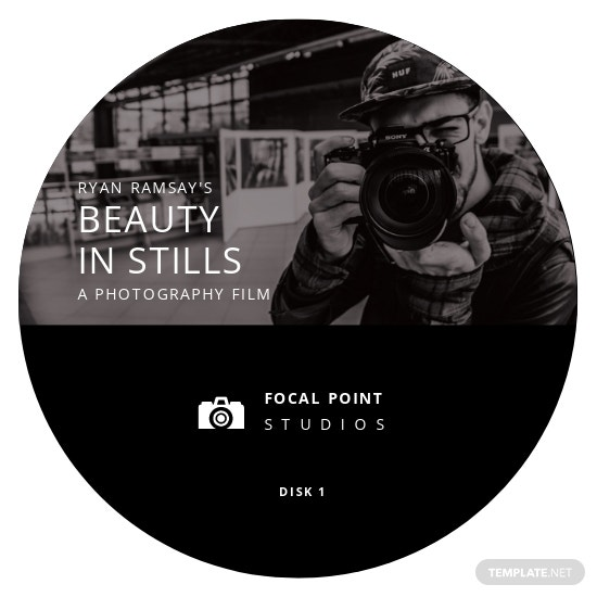 Photographer CD Label Cover Template