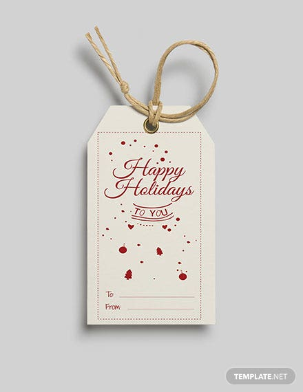 Free Holiday Gift Tag Template