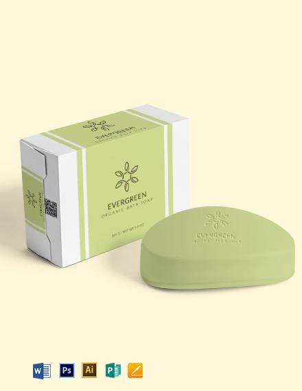 Soap Label Wrap Template