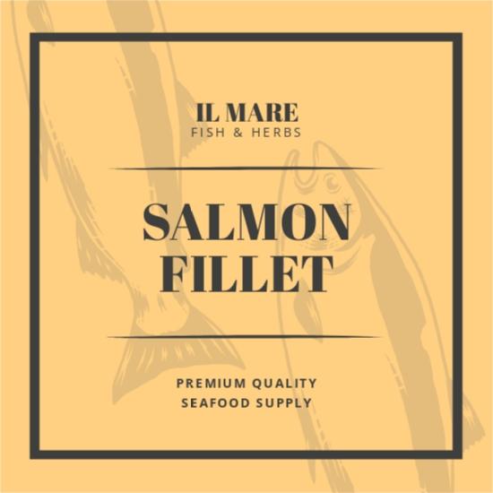 Vintage Fish And Sea Food Label Template.jpe