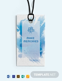 Free Photo Gift Tag Template