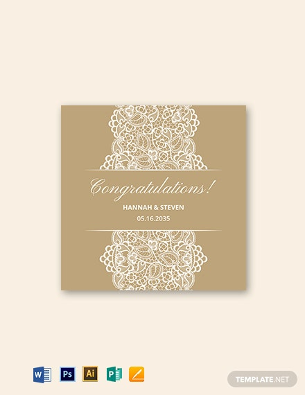 Wedding Lace Wrap Label Template