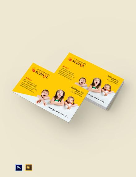 Kindergarten Business Card Template