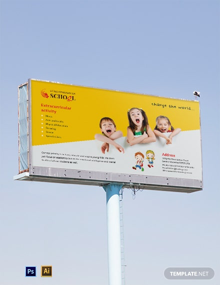 Kindergarten Billboard Template