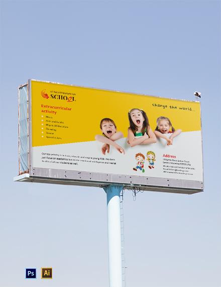 Kindergarten Billboard Template