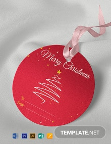 Free Round Gift Tag Template