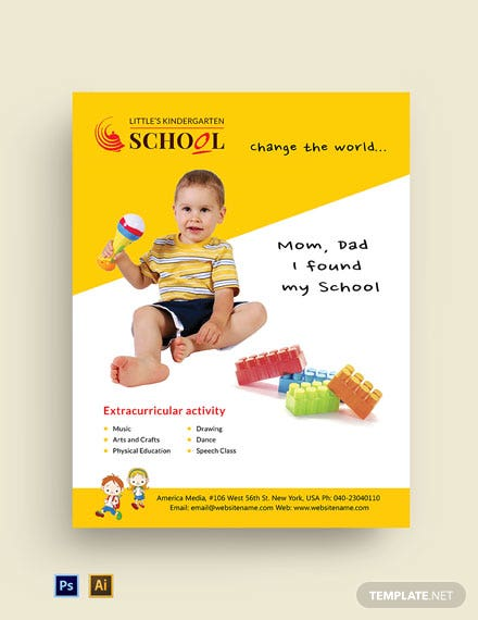 Kindergarten School Flyer Template