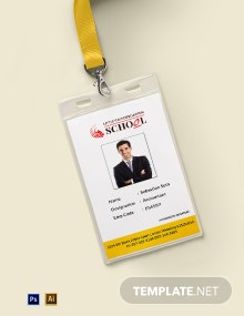 Kindergarten Identity Card Template