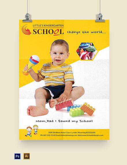 Kindergarten Poster Template