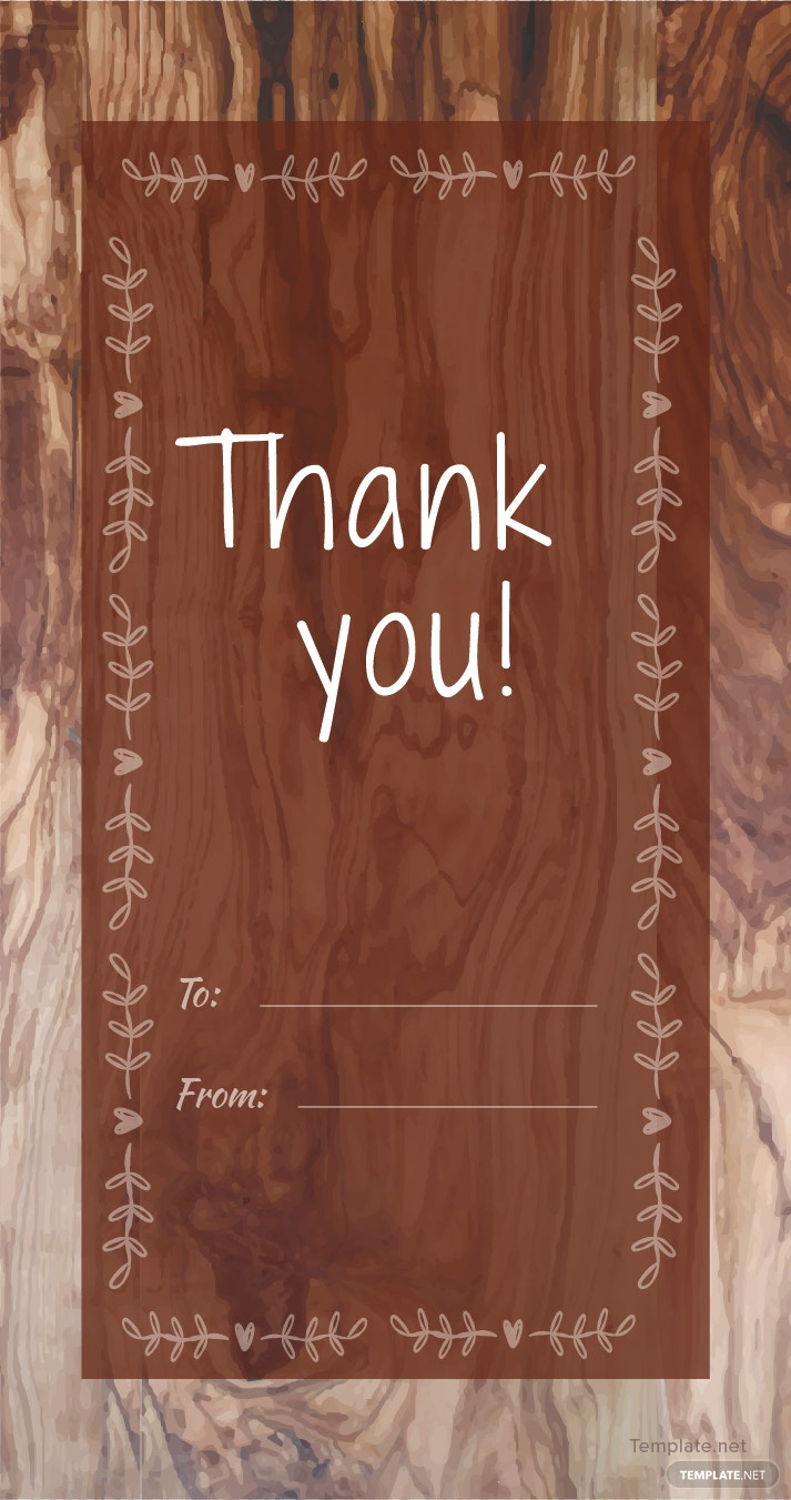 Free Rustic Thank You Tag