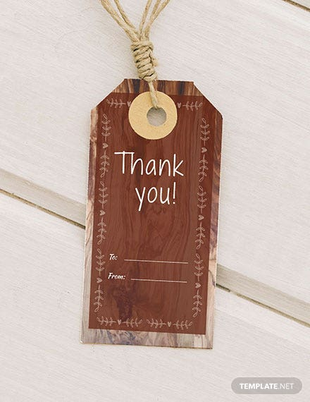 Free Rustic Thank You Tag Template