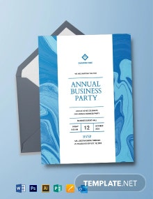 Business Party Invitation Template