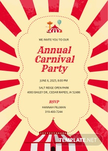 Carnival Party Invitation Template