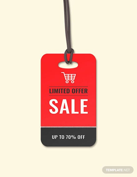 Free Sale Tag Template