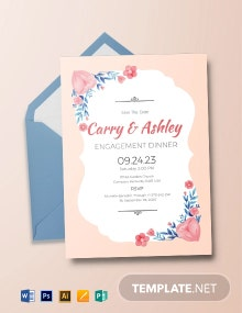 Engagement Dinner Invitation Template