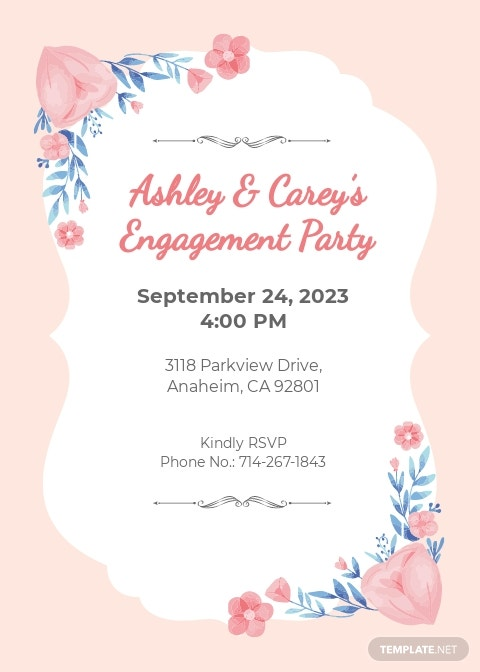 Engagement Dinner Invitation Template