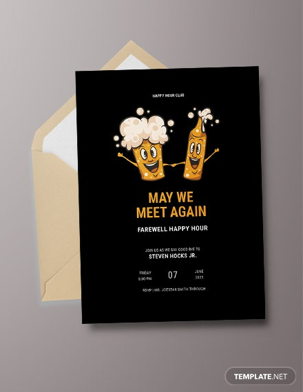Farewell Happy Hour Invitation Template