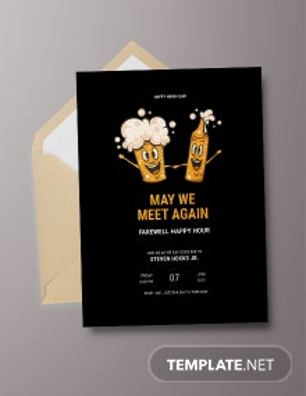 Farewell Happy Hour Invitation Template