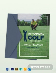 Golf Event Invitation Template