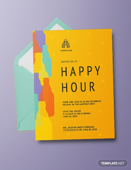 Download 14 Happy Hour Invitation Templates Word Doc Psd