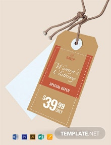 Shopping Tag Template