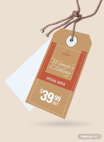 Free Shopping Tag Template