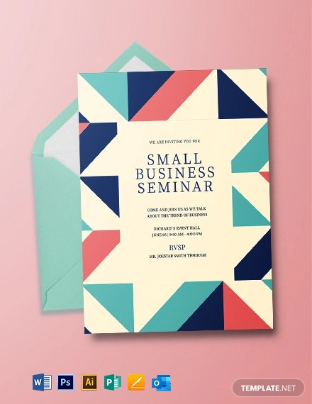 Small Business Invitation Template
