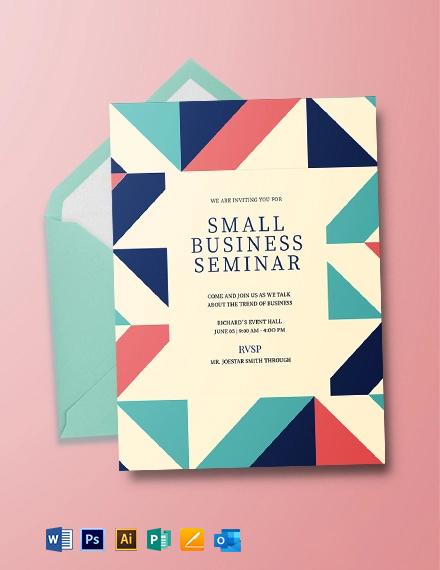 Small Business Invitation Template