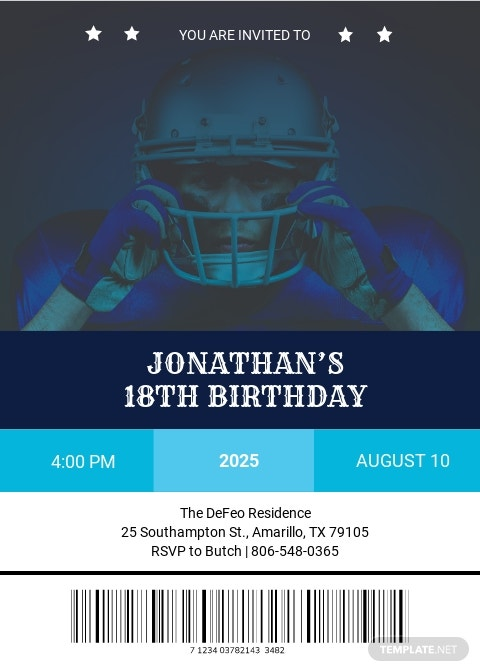 Sports Ticket Birthday Invitation Template