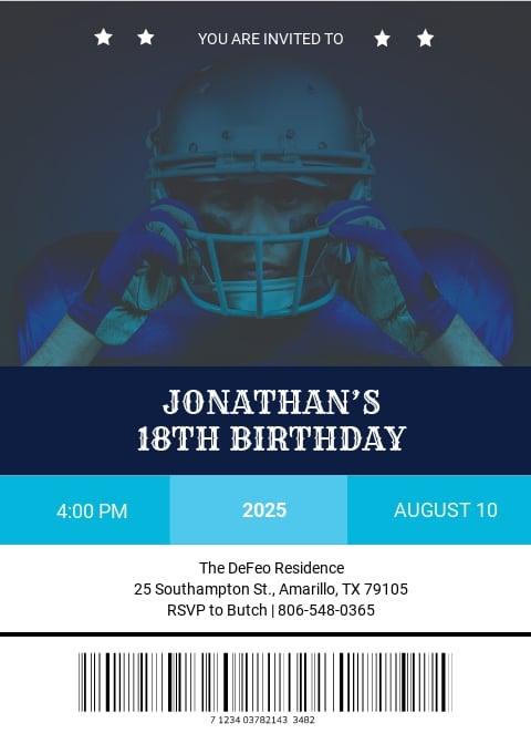 Sports Ticket Birthday Invitation Template.jpe