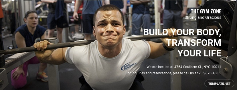 Free Gym Facebook Cover Template