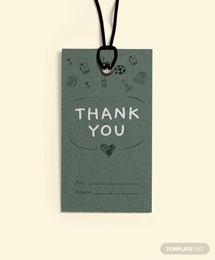 Free Teacher Thank You Tag Template