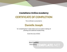 Free Online Course Completion Certificate