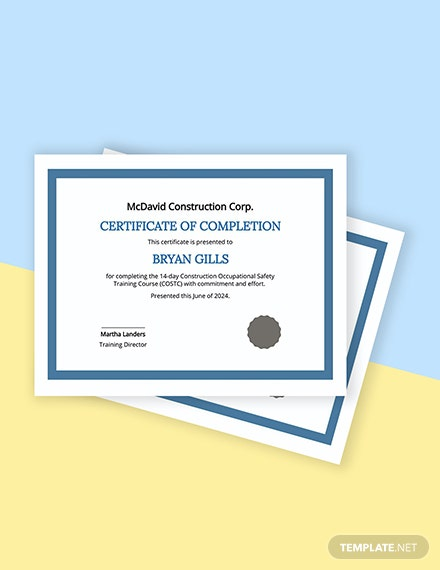 Free Training Certificate