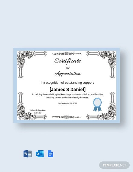 Free Elegant Appreciation Certificate