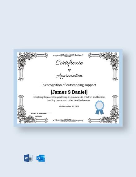Free Elegant Appreciation Certificate