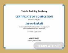 Free Training Academy Certificate