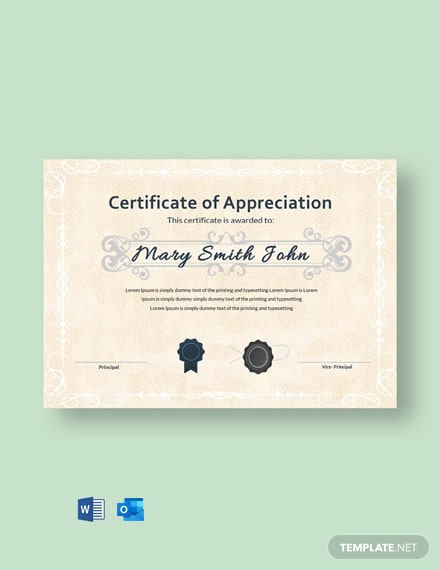 Free Appreciation Certificate for Student