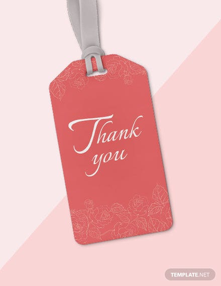 Free Thank You Tag Template