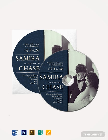 Wedding CD/DVD Cover Label Template