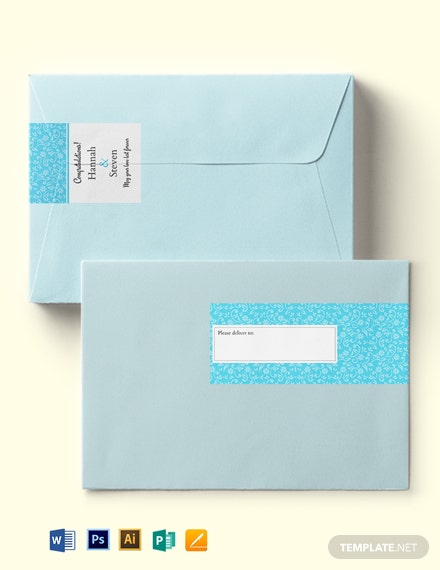 Wedding Lace Wrap Address Label Template