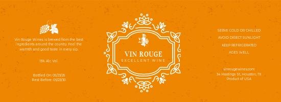Printable Wine Bottle Label Template