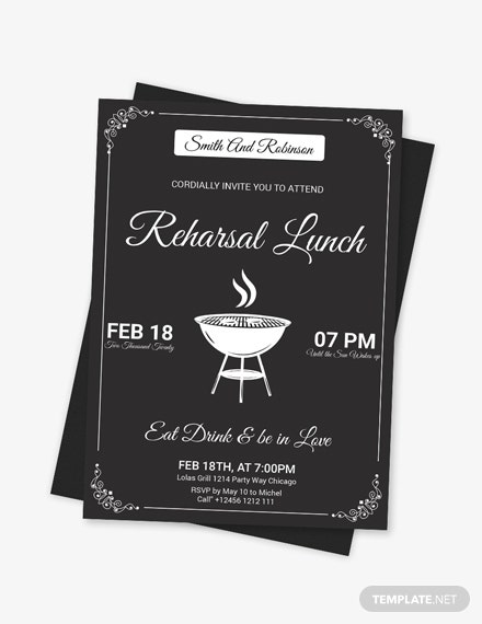 Sample Vintage Lunch Invitation Template