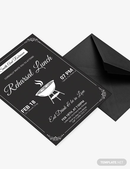 Vintage Lunch Invitation Template Download