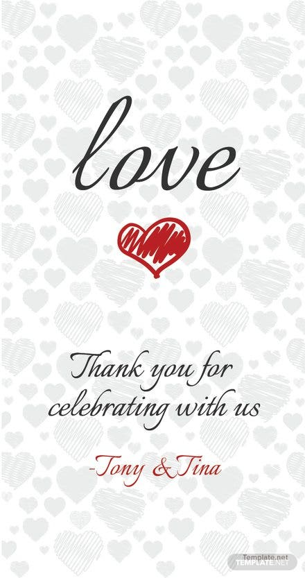 Free Thank You Favor Tag Template